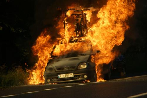 #samochody #ogień