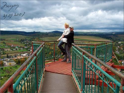 punkt widokowy Orle Skały nieopodal zamku Leśna, panorama Szczytnej #Szczytna #Orle #Skały #panorama #Leśna #zamek