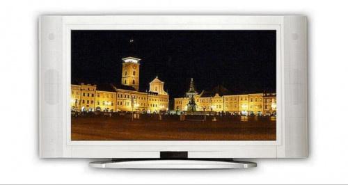 Czeskie Budziejowice nocą #miasto #rynek #wieża