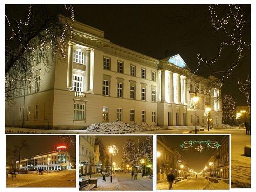 #Radom #zima #NowyRok #śnieg #wieczór #architektura #święta #Mikołaj #sanie #renifer #anioł #fontanna #deptak #światełka #ŚwiąteczneOzdoby