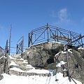 Platforma widokowa Sokolika w Rudawach Janowickich koło Jeleniej Góry #Sokolik #RudawyJanowickie #Góry #zima #JeleniaGóra