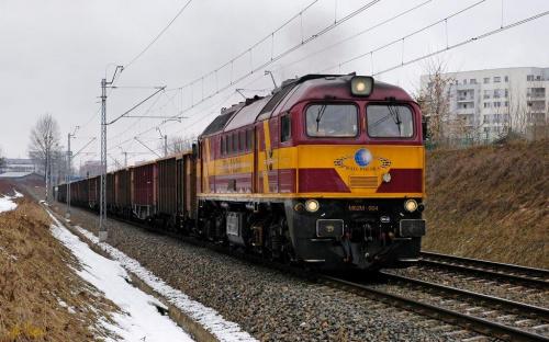 M62M-004 Challenger prowadzi pociąg towarowy z kruszywem do stacji Warszawa Okęcie. #M62M #Challenger #Gagarin #Towarowy #Brutto #Rail_polska #rail #kolej #pociąg