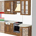 Tradycyjne drewniane meble kuchenne #meble #kuchenne #drewniane #tradycyjne #gięte #projekt