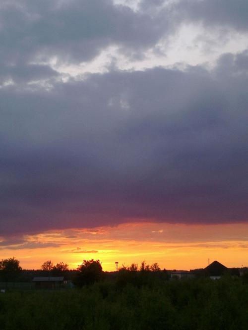 #słońce #ZachódSłońca #niebo #chmury