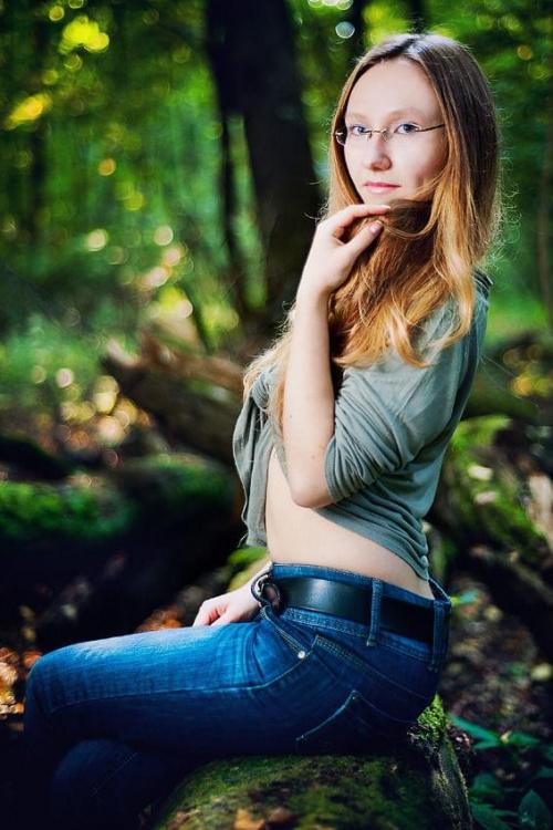 Ela #nikon #portret #kobieta #las #d700 #nikkor #strobing #passiv