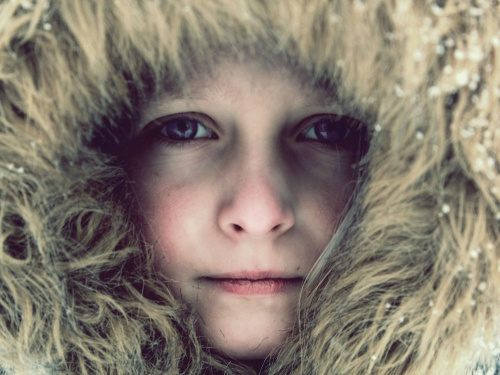 #portret #dziecko #zima