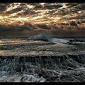 Mona #chmury #ocean #poranek #przyroda #woda #WschódSłońca