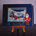 Chatka świętego Mikołaja i Jego żony Mery Christmas, która, jak wszyscy widzą, krząta się w kuchni :) #rękodzieło #HaftKrzyżykowy #KartkiŚwiąteczne #BożeNarodzenie