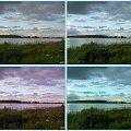 Górki Zachodnie,wzdłuż Wisły-próby z filtrami...nie wiem, który jest najlepszy? #collage #inaczej #NadWisłą #niebo #chmury #widok #filtry