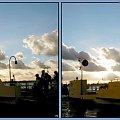Sobieszewo, na promie,już po zachodzie słońca #collage #inaczej #prom #Wisła #Sobieszewo #chmury #widok #PoZachodzie