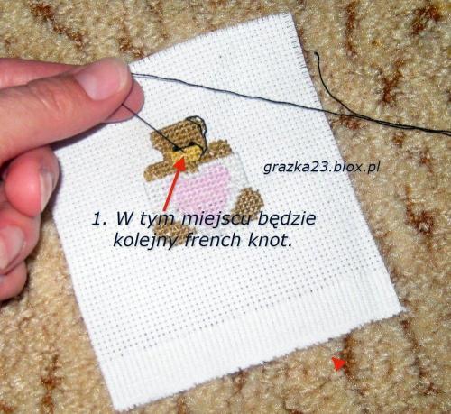 #PodstawyHaftuKrzyżykowego #FrenchKnot #HaftKrzyżykowy #NaukaHaftuKrzyżykowego